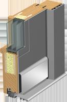 Holz-Alu Türen Schnitt Classic