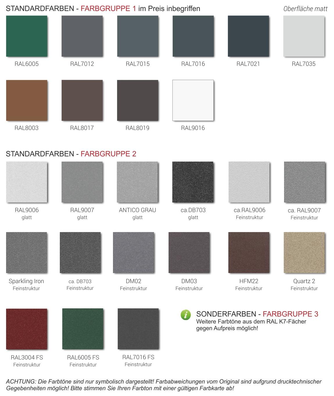 Farben Aluminium Oberflächen, Pulver Farben, Deco Paneele