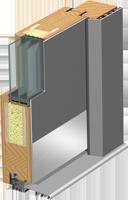Holz-Alu Türen Schnitt Modern