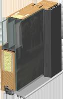 Holz-Alu Türen Schnitt Vetro